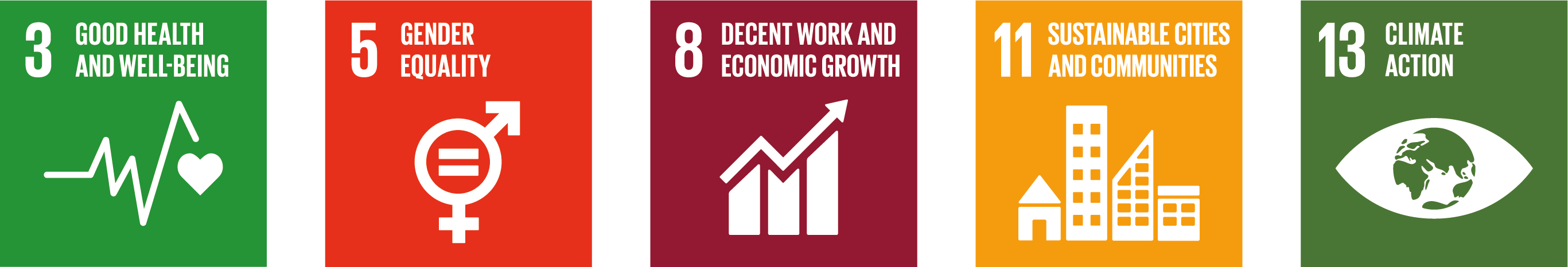 Sustainable development goal icons